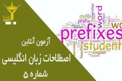 آزمون تستی زبان آنلاین بخش اصطلاحات روزمره مرحله متوسط شماره 5